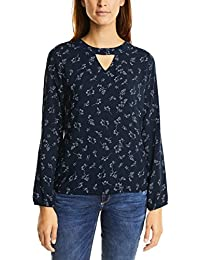 Street One Uni and Print Blouse Gathered Hem, Blusa para Mujer