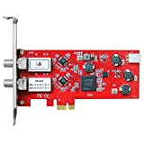 "TBS, TBS-6902 ""DVB-S2"" dual tuner,""PCIe"" satellite HDTV reception card, red"