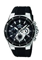 CASIO EF-552-1AVEF Edifice - Reloj de caballero de cuarzo, correa de resina color negro (con cronómetro, luz) de ITALJAPAN SRL