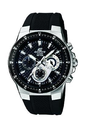 CASIO EF-552-1AVEF Edifice - Reloj de caballero de cuarzo, correa de resina color negro (con cronómetro, luz)