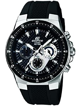 [Gesponsert]Casio Edifice – Herren-Armbanduhr mit Analog-Display und Resin-Armband – EF-552-1AVEF