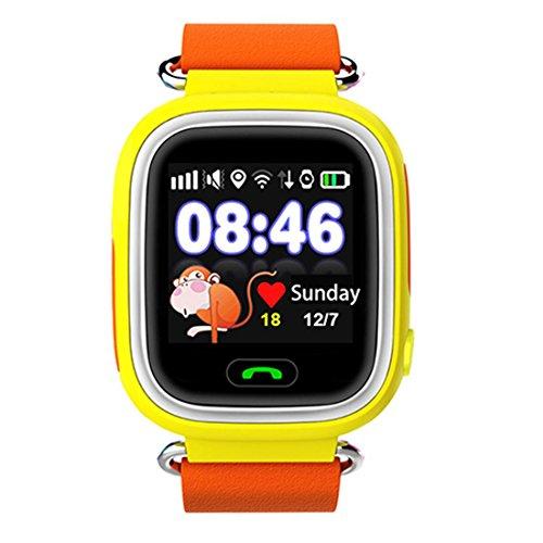 Preisvergleich Produktbild Joyeer Smart Watch Baby-Uhr GPS-Telefon Positionierung Mode Kinderuhr mit 1,22 Zoll Touchscreen Wifi SOS Call Location Device Tracker für Kinder Safe Anti-Lost Monitor , orange