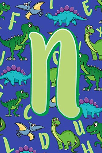 N: Dinosaur Alphabet Practice Writing Book for Kids -