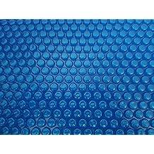 SCHWIMMBADABDECKUNG achtform 5,0 X 8,55 m SOLARFOLIE 400 my blau