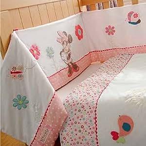 Disney - Tour de lit matelassé pour lit de bébé Minnie Mouse Sunshine