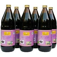 Bio Aronia Saft, 100 % Direktsaft in der 1000ml Glasflasche, 6 x 1000ml