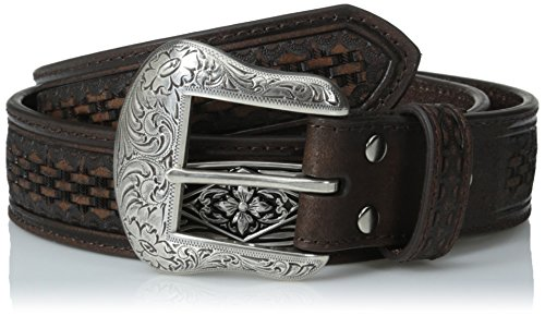 Nocona Men's Industrial Concho Basket, Brown, 44 - Nocona Concho