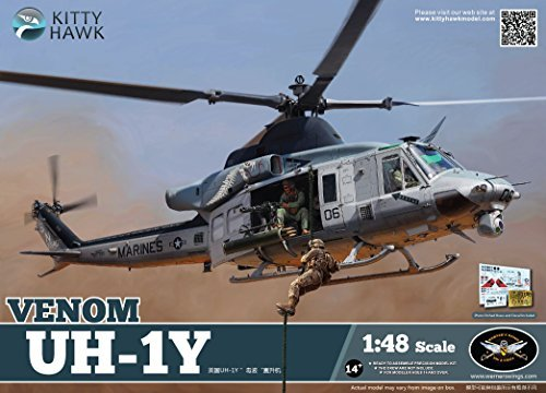 KTH80124 1:48 Kitty Hawk UH-1Y Venom Helicopter [MODEL BUILDING KIT] by Kitty (Kit Kitty)