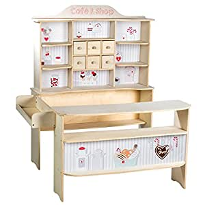 roba 480020 kaufladen kinder kaufmannsladen 39 caf und. Black Bedroom Furniture Sets. Home Design Ideas