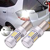 TUINCYN 1156 BA15S P21W luces de giro LED, color blanco, canbus libre de errores, 7056 1141 1073 1095 2835 21 LED SMD, luz trasera, luz de freno complementaria, pack de 2
