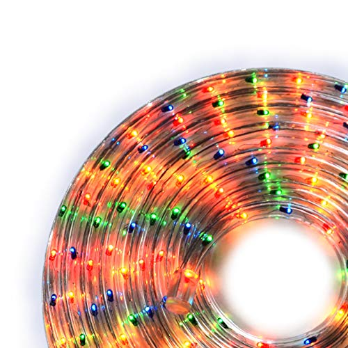 Nipach GmbH 20m Microlichter Lichterschlauch Lichtschlauch bunt - Innen- und Außenbereich - Licht-Dekoration für Garten Fest Weihnachten Hochzeit Gesamtlänge ca. 21,50 m