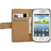 Negra Cartera Funda para Samsung Galaxy Young (GT-S6310 / S6312 Duos / Dual / S6310L / S6310N) - Flip Case Cover + 2 Protector de Pantalla