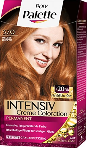 Palette Intensiv Creme Coloration 370 Helles Kupfer Stufe 3, 3er Pack (3 x 115 (Haar Helle Farbe)