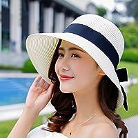 5fbc0e4e7b37e WQLQL Sombrero de paja de sol de moda Sombrilla de verano femenina  Protector solar Sombrero de