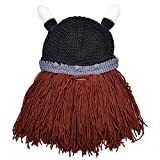 Vbiger Bonnet Hiver Unique Diverses Formes Pieuvre / Père Noël / Viking (Noir 2353958)