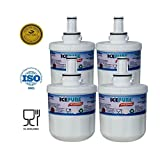 4 Pack Samsung DA2900003F Aqua Pure Plus Replacement Refrigerator Filter by IcePure RFC2900A