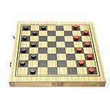 MindSapling Backgammon and Checker Wooden Game S