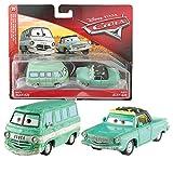 Disney Cars 3 Cast 1:55 -Sélection Véhicules Automobiles Modèles Double Pack, Cars Doppelpacks 2017:Dusty & Rusty Rust-Eze