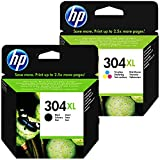 HP 304XL Set black + color XL N9K07AE N9K08AE für HP Deskjet 3720 3730