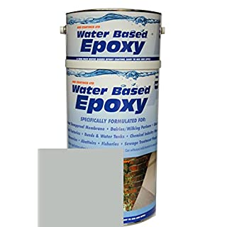 Damp Proof Epoxy Resin Water based Paint for Garages, Walls, Basements and Tanks - 5L (Grey)