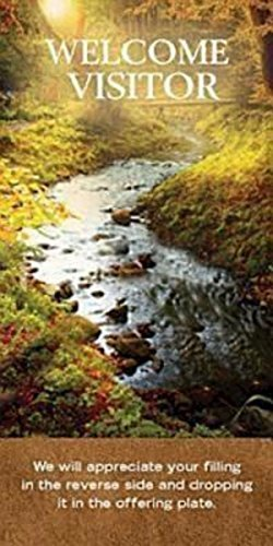 Pkg Fall (Welcome Visitor To Our Church Fall Stream Card (Pkg of 25) (2011-08-01))