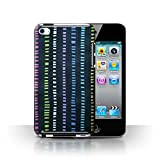 Coque de Stuff4 / Coque pour Apple iPod Touch 4 / Bleu Marin/Couleur Design / Textiles Maison Collection