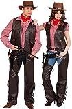 Orlob Western Damen Kostüm Cowgirl Weste braun Karneval Fasching Gr.44/46