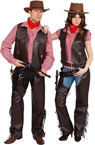 Orlob Western Damen Kostüm Cowgirl Chaps braun Karneval Fasching Gr.40/42 (Cowboy Kostüm Für Damen Hose)