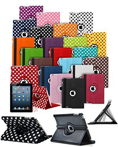 Custom Made Tablet Schutzhülle mit 360° Drehbar und Ständer Funktion * * Ausverkauf alle Lager Must Go * *, Dark Purple with White Polkadots, HTC Google Nexus 9-8.9 inch (2014)
