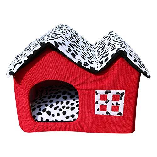 Prom-near Hundebetten Hundehütte Katzenhöhle Katzenhaus Pet Nest Abnehmbarer und waschbarer - Indoor Portable Warm Weichen Nest Für Kleine Und Mittelgroße Hunde (Indoor-hundehütte Für Mittelgroße Hunde)