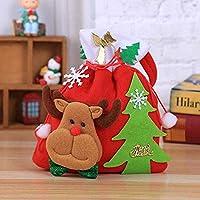 Caomoa Bolsa de Dulces Bolsa niños Muñeco de Nieve Creativo de Santa Decoración de Navidad Bolsa de Juguetes Bolsa de Almacenamiento para la Fiesta de Navidad Año