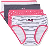 Absorba Underwear Ope Gratuite, Culotte Fille, Blanc (Blanc), 8 Ans (Taille Fabricant: 8A) - Lot de 4...