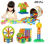 400pcs 3D Puzzle Jigsaw plastique flocon de neige blocs de construction