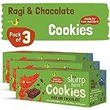 Slurrp Farm Cookies : Ragi and Chocolate (Pack of 3)