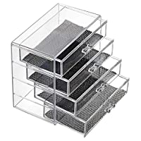 Feibrand Makeup Organiser for Cosmetic Storage with 4 Acrylic Drawers