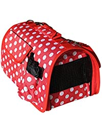 BPS (R) Portador Transportín Bolsa Bolso de tela (Lunares) para Perro, Gato, Mascotas, Animales,Tamaño: M,43.5x25x25cm