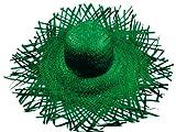 Chapeau de paille jardinier Vert (SH-25), Chapeau Filagarchado Paille Vagabond en raphia tressé Paille Vagabond accéssoire d'été plage soleil déguisement