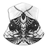 Sciarpa al Collo Farfalla Tatuaggio a Doppia Esposizione con Montagne Simbolo di libertà Sport da Viaggio Casuale Fascia per Capelli Ghetta Outdoo