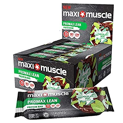 Maxi Muscle Promax Lean Protein Bar Chocolate Mint Flavour 12x55g ***Best Before End September 2019*** from MaxiMuscle