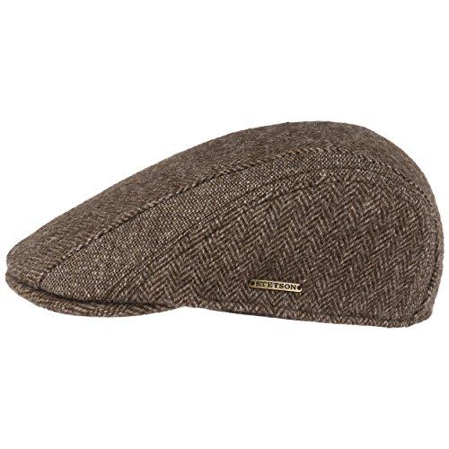 Stetson Casquette Manatee Woolrich Homme - Casquettes Gavroche Bonnet pour avec Visiere, Doublure, Doublure Automne-Hiver