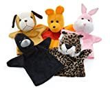 #9: Cuddly Toys Animals Plush Hand Puppets For Kids (Set of 5 pcs)