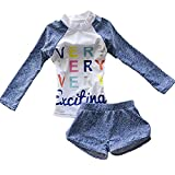 Babyicon - Costume a due pezzi - Bebè femminuccia Blue M