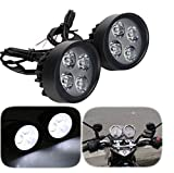#4: Andride Fog Light Mirror Mount 4 Led 16w White Light Auxillary Light Bike Motorcycle with and 1 Pair- For PR Fog Light Mirror Mount 4 Led 16w White Light Auxillary Light Bike Motorcycle with and 1 Pair- For Scooty All Type