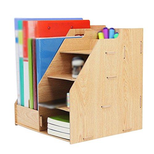DFHHG® Libro Stand Archivo Rack Rack de almacenamiento Oficina 290 * 260 * 292mm 1.3 Kg Woody durable