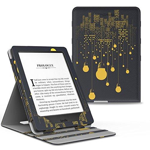 MoKo Kindle Paperwhite Hülle - Vertikal Flip Kunstleder Ständer Schutzhülle Smart Cover mit Auto Sleep/Wake, Nachtlicht Nacht