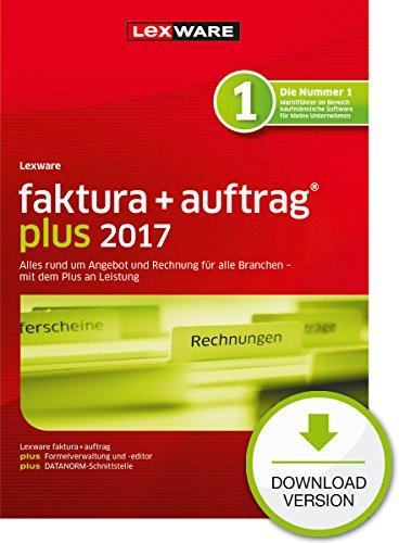 Lexware faktura+auftrag 2017 plus-Version PC Download (Jahreslizenz) / Einfache Auftrags- & Rechnungs-Software für alle Branchen / Kompatibel mit Windows 7 oder aktueller