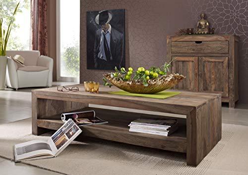 MASSIVMOEBEL24.DE Sheesham Massivmöbel Couchtisch 135x70 Palisander Holz massiv Nature Grey #11