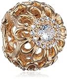 Pandora Damen-Bead Floraler Strahlenkranz 585 Gelbgold Zirkonia transparent - 750836CZ