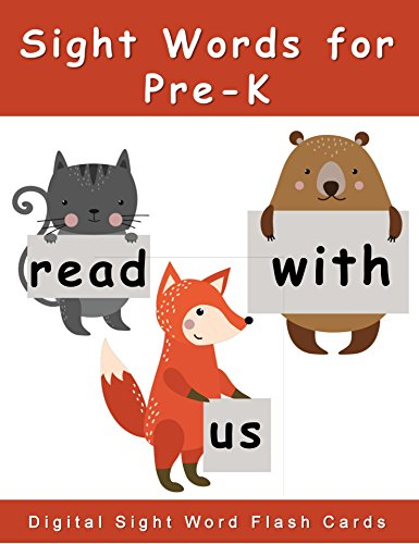 Sight Words for Pre-K: Digital Sight Words Flash Cards (Dolch Sight Words Activities and Sight Words Worksheets) (English Edition) - K-spiele Pre