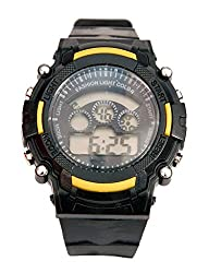 Surya Sporty Look Digital Black Dial watch for Kids in Yellow Color -SS02